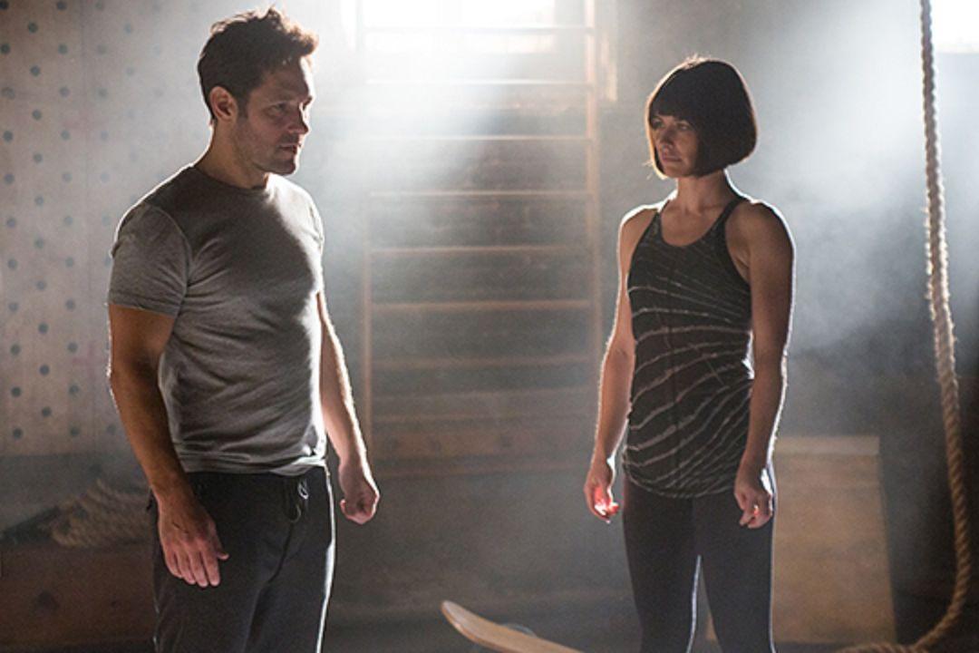 Paul Rudd and Evangeline Lilly in Ant-Man Scott Lang Hope van Dyne