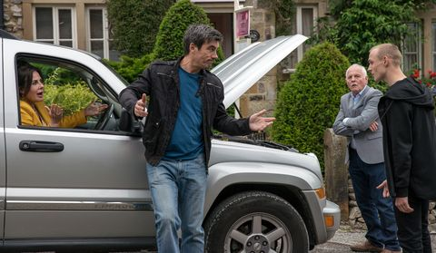 Cain Dingle is reluctant to help Eric Pollard in Emmerdale