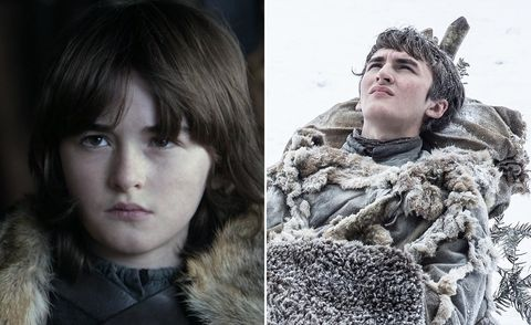 <p>Possibly the most dramatic transformation – wee Bran has gone from being a scampering little castle-monkey to a moody, omniscient, arboriallytelepathiceight-foot-tall teenager.</p>