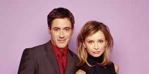 Robert Downey Jr. and Calista Flockhart in 'Ally McBeal'