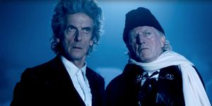 The 12th and 1st Doctor in the 'Doctor Who' Christmas special 2017