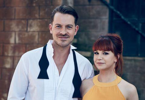Ashley Taylor Dawson and Jessica Fox as Darren and Nancy Osborne in Hollyoaks