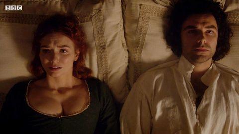 Demelza and Ross in 'Poldark'