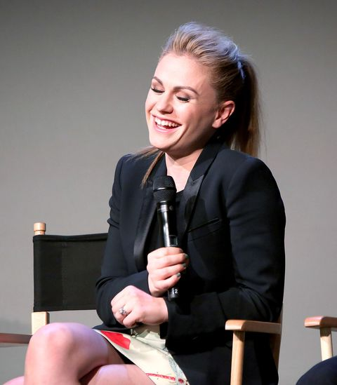 Actress Anna Paquin attends 'Meet The Cast' at Apple Store Soho