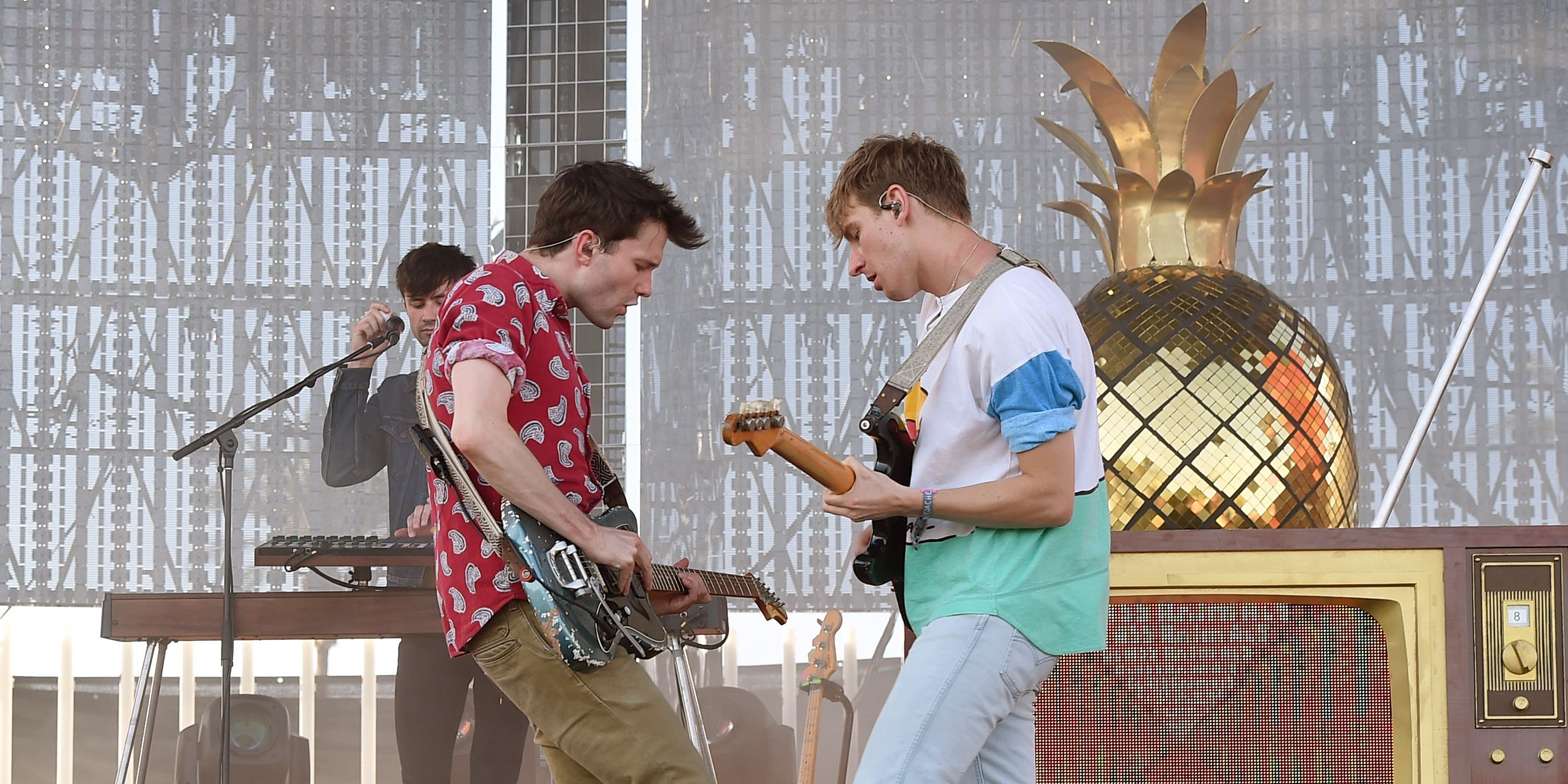 Glass Animals perform on the Coachella Stage during day 1 of the 2017 Coachella Valley Music & Arts Festival
