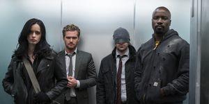 Jessica Jones, Iron Fist, Daredevil and Luke Cage in 'The Defenders'