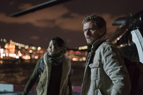 Colleen Wing and Danny Rand in 'The Defenders'