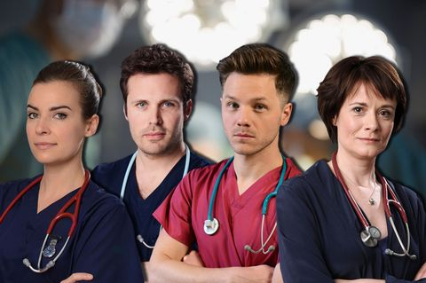 Catherine Russell, James Anderson, David Ames, Camilla Arfwedson, Holby City Secrets