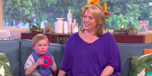 Angus Palmes and mum Tandy on This Morning