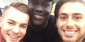 Instagram post - Kem Cetinay, Chris Hughes and Stormzy at V Festival (August 20)