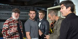 Aaron Dingle prepares for his fight with Jason in Emmerdale