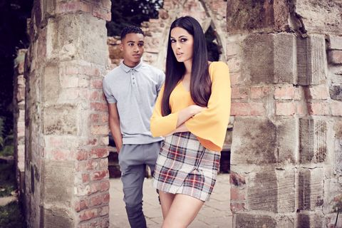 Amrit Maghera and Theo Graham as Neeta Kaur and Hunter McQueen in Hollyoaks