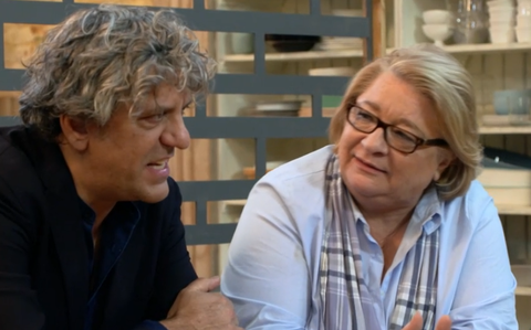 Rosemary Shrager and Giorgio Locatelli