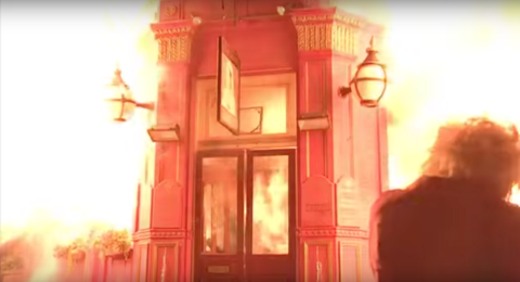 Fire at the Queen Vic: EastEnders