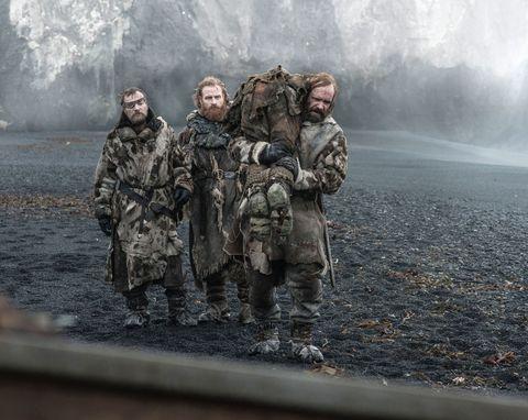 "Richard Dormer as Beric Dondarrion, Kristofer Hivju as Tormund and Rory McCann as Sandor ""The Hound"" Clegane"