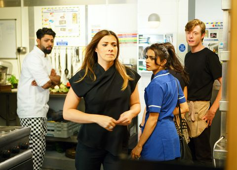 Michelle Connor finds drugs at the Bistro in Coronation Street