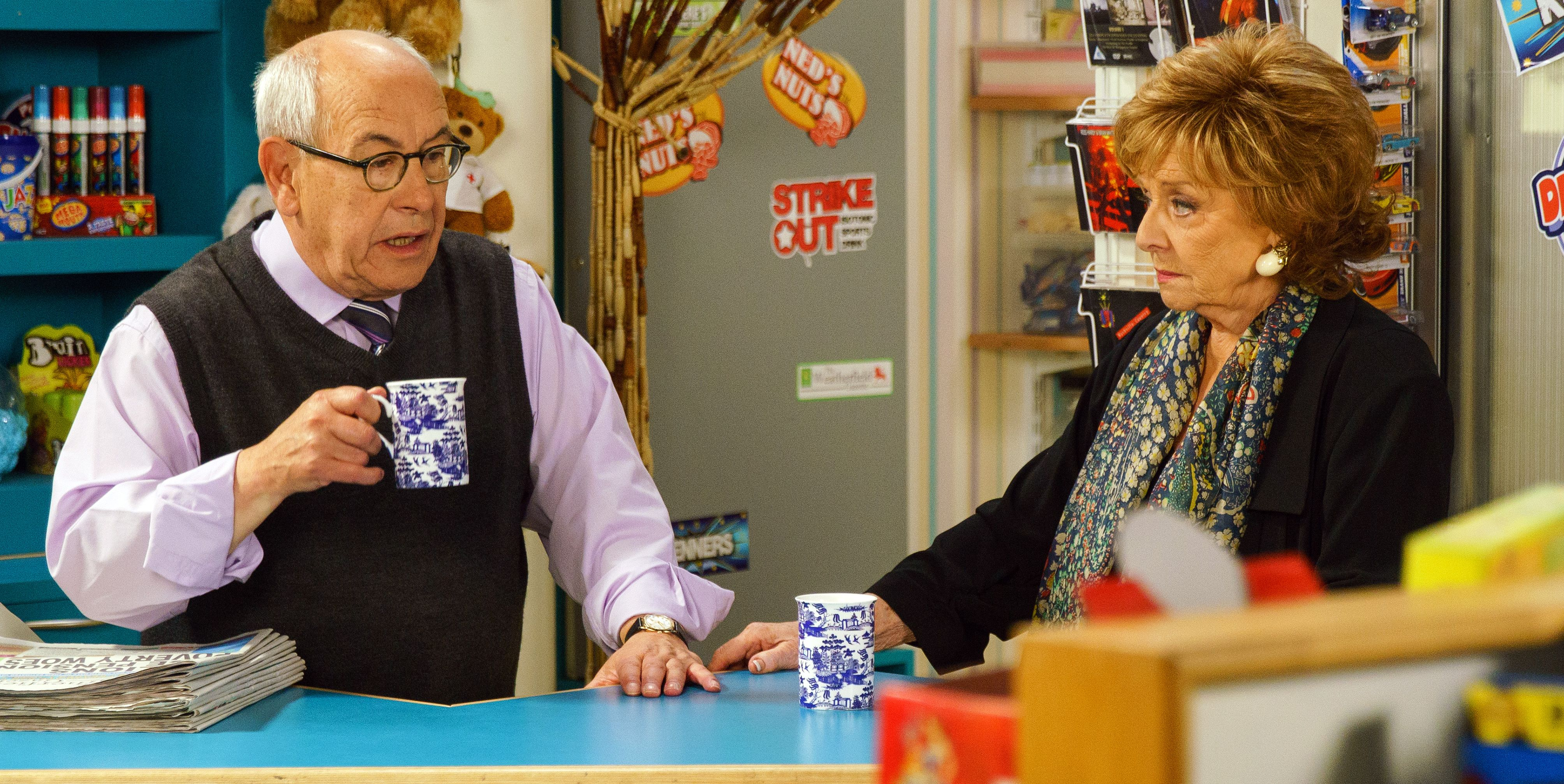 Rita Tanner confides in Norris Cole about her memory problems in Coronation Street