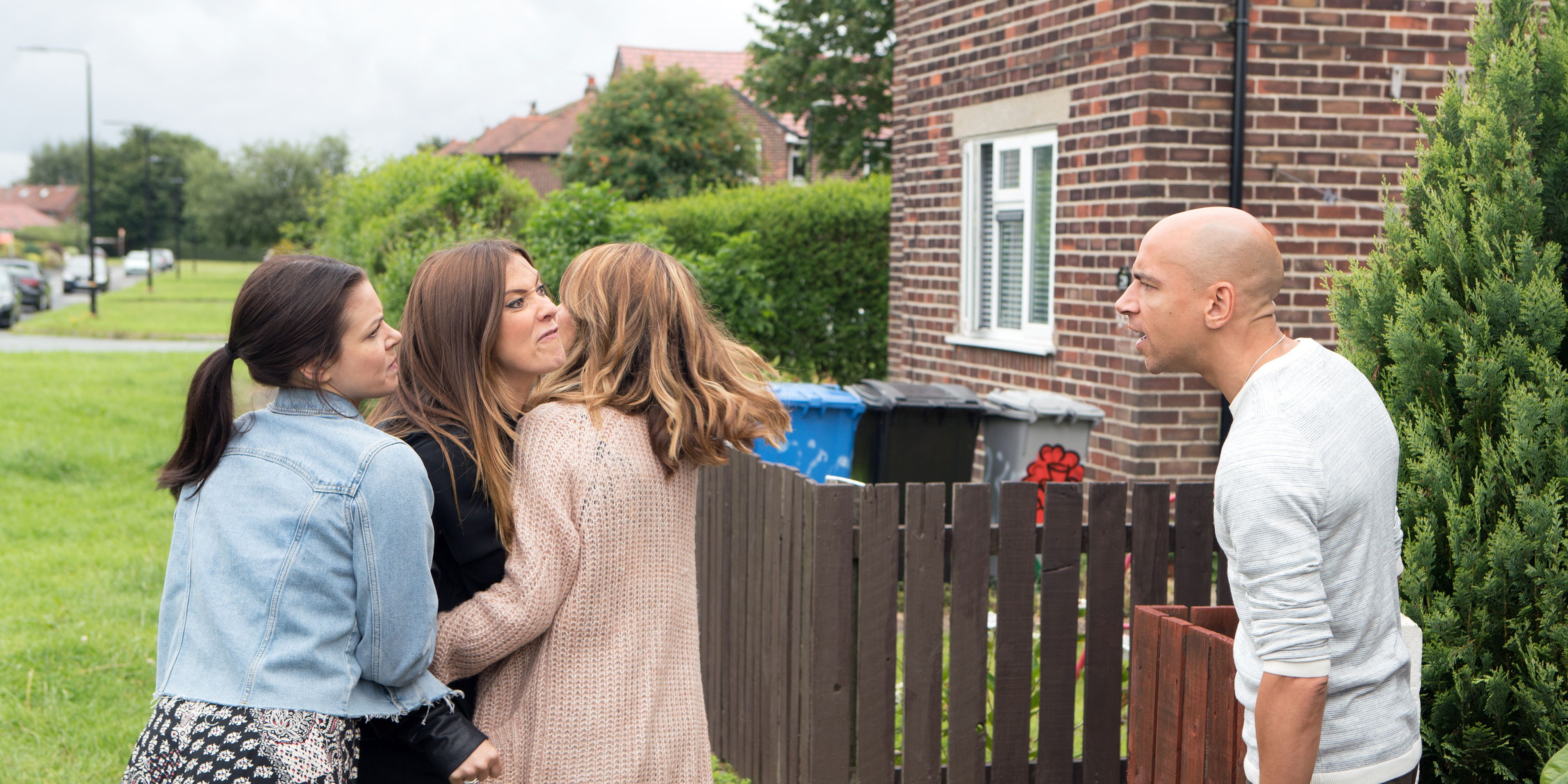 Michelle Connor confronts Rich Collis about the drugs in Coronation Street