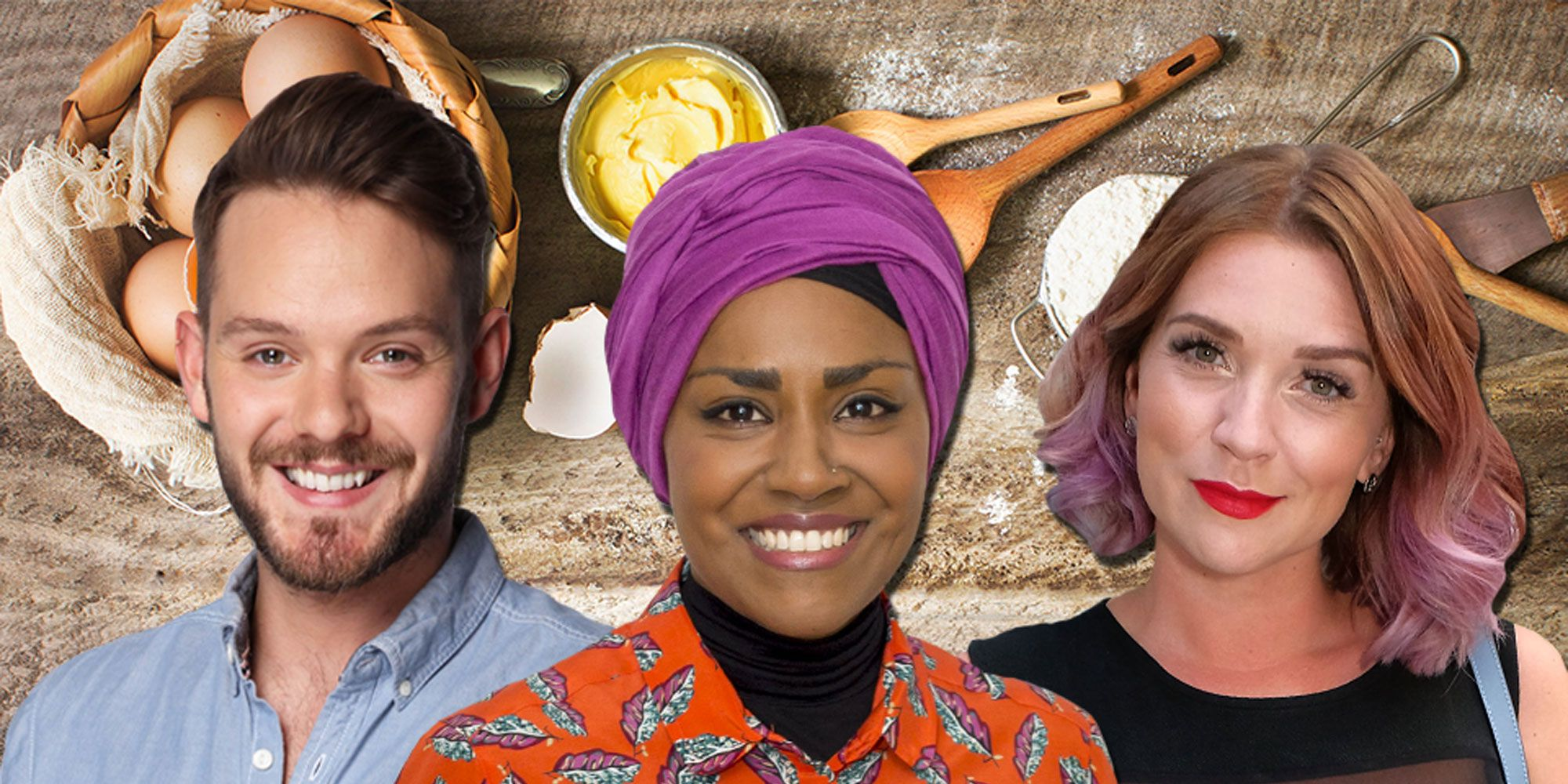 Candice Brown, Nadiya Hussain, John Whaite, The Great British Bake Off Winners, WATN