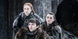 Sansa, Bran and Arya in Game of Thrones