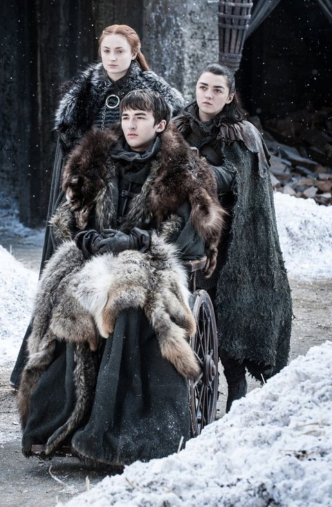 Sansa, Bran and Arya in Game of Thrones