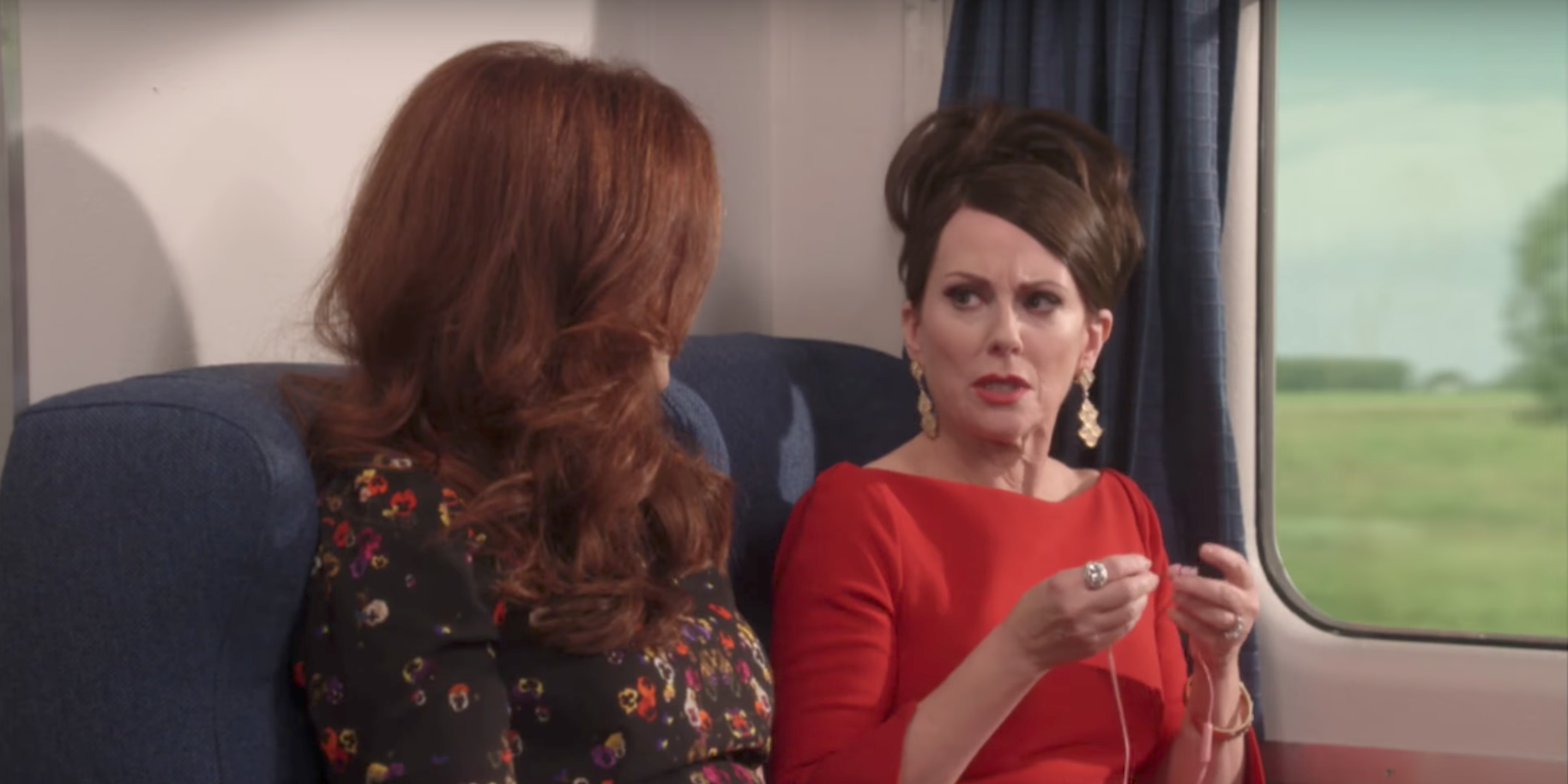 Debra Messing and Megan Mullally in the new Will & Grace