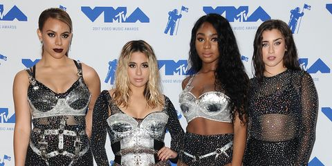Dinah Jane, Ally Brooke, Normani Kordei and Lauren Jauregui of Fifth Harmony at the 2017 MTV Video Music Awards at The Forum
