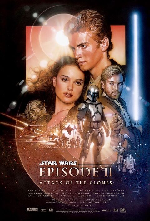 Star Wars Attack of the Clones poster Drew Struzan