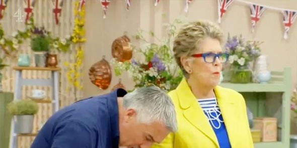 Paul Hollywood, Prue Leith, spit out raw cookies, GBBO, Bake Off