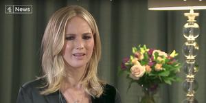 Jennifer Lawrence interviewed by Channel 4 News