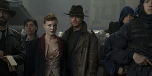 Holliday Grainger and Richard Madden in Electric Dreams: The Hood Maker