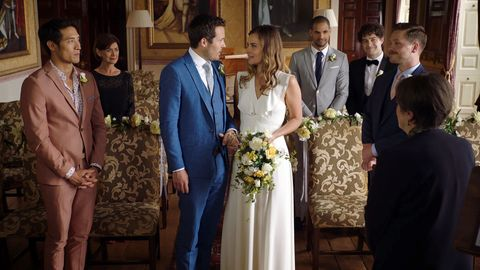 Oliver Valentine and Zosia March's wedding in Holby City