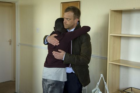Sanosi and Dylan Keogh in Casualty