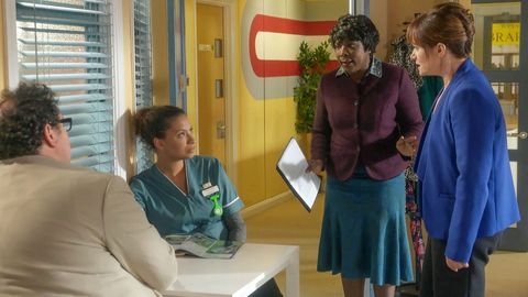 Ayesha Lee and Emma Reid clash over a patient in Doctors