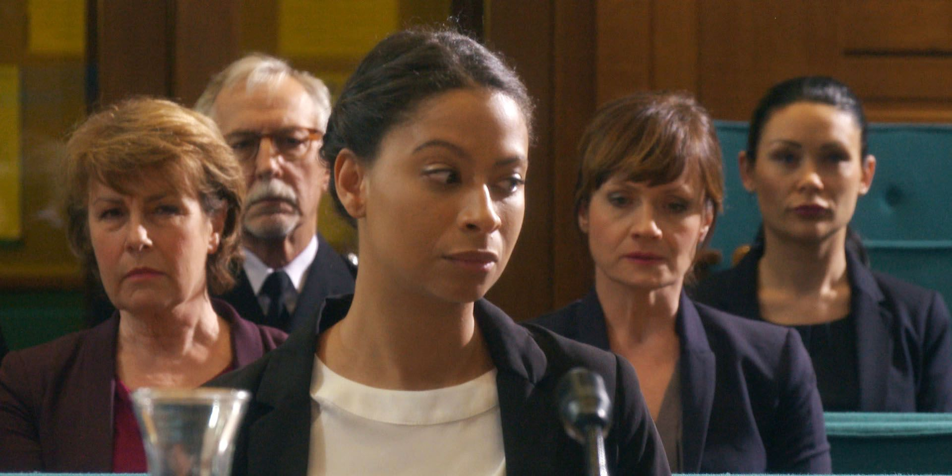 Ayesha Lee and Emma Reid at the coroner's inquest in Doctors