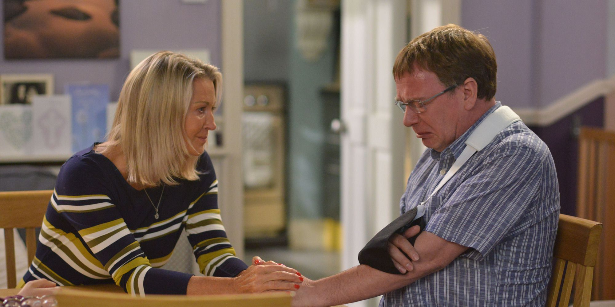 Kathy Beale tries to support Ian and Ben in EastEnders