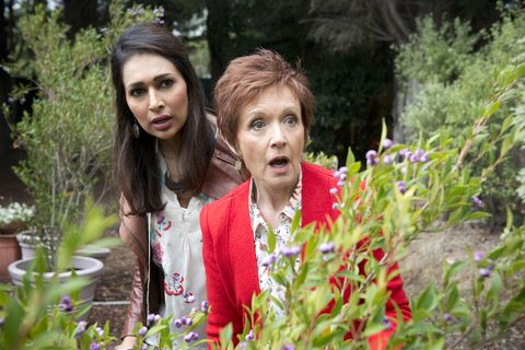 Susan Kennedy and Dipi Rebecchi get suspicious over Karl Kennedy and Courtney Grixti in Neighbours
