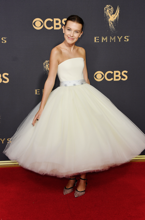 Millie Bobby Brown attends the 69th Annual Primetime Emmy Awards