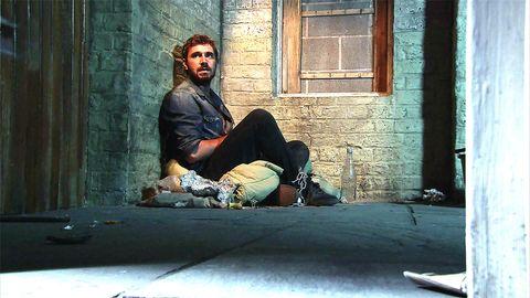 Andy Carver in Pat Phelan's cellar in Coronation Street
