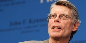 Stephen King reads from his new fiction novel '11/22/63: A Novel' during the 'Kennedy Library Forum Series'