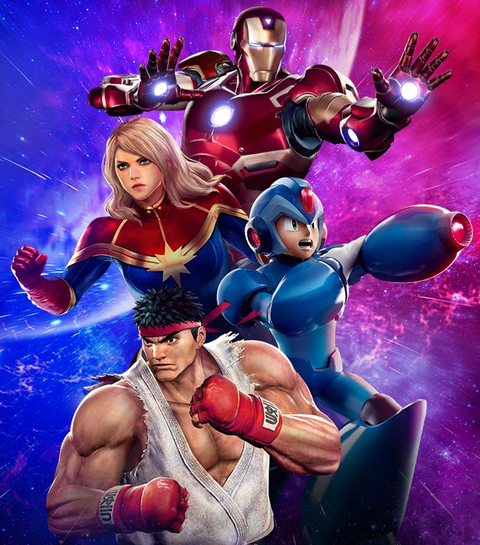 Iron Man, Captain Marvel, Mega Man, Ryu