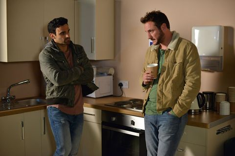 Kush Kazemi and Martin Fowler have a heart-to-heart over Arthur in EastEnders