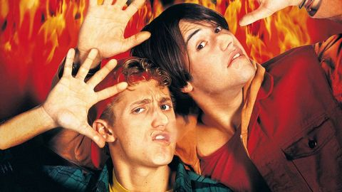 bill and ted in hell in bill and ted's bogus journey