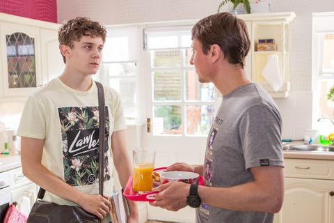 Tom Cunningham and Milo Entwistle in Hollyoaks