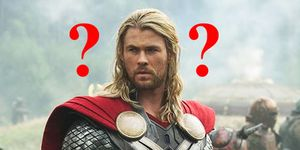 Thor pondering Chris Hemsworth