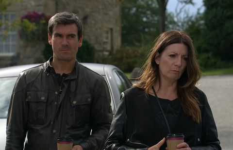 Cain Dingle and Harriet Finch are in shock over last week in Emmerdale