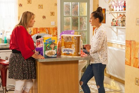 Cleo and Myra McQueen in Hollyoaks