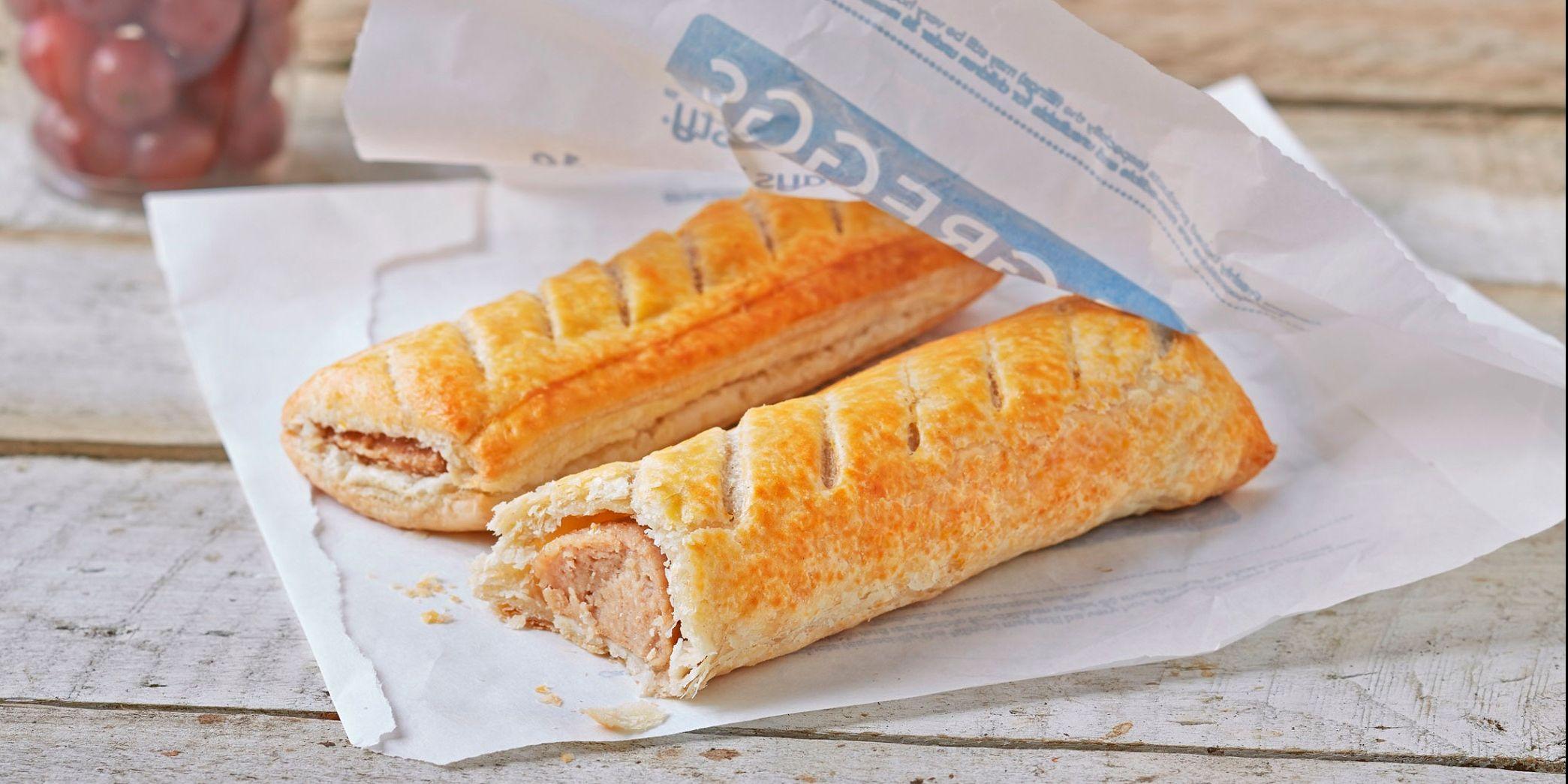 Greggs, sausage rolls