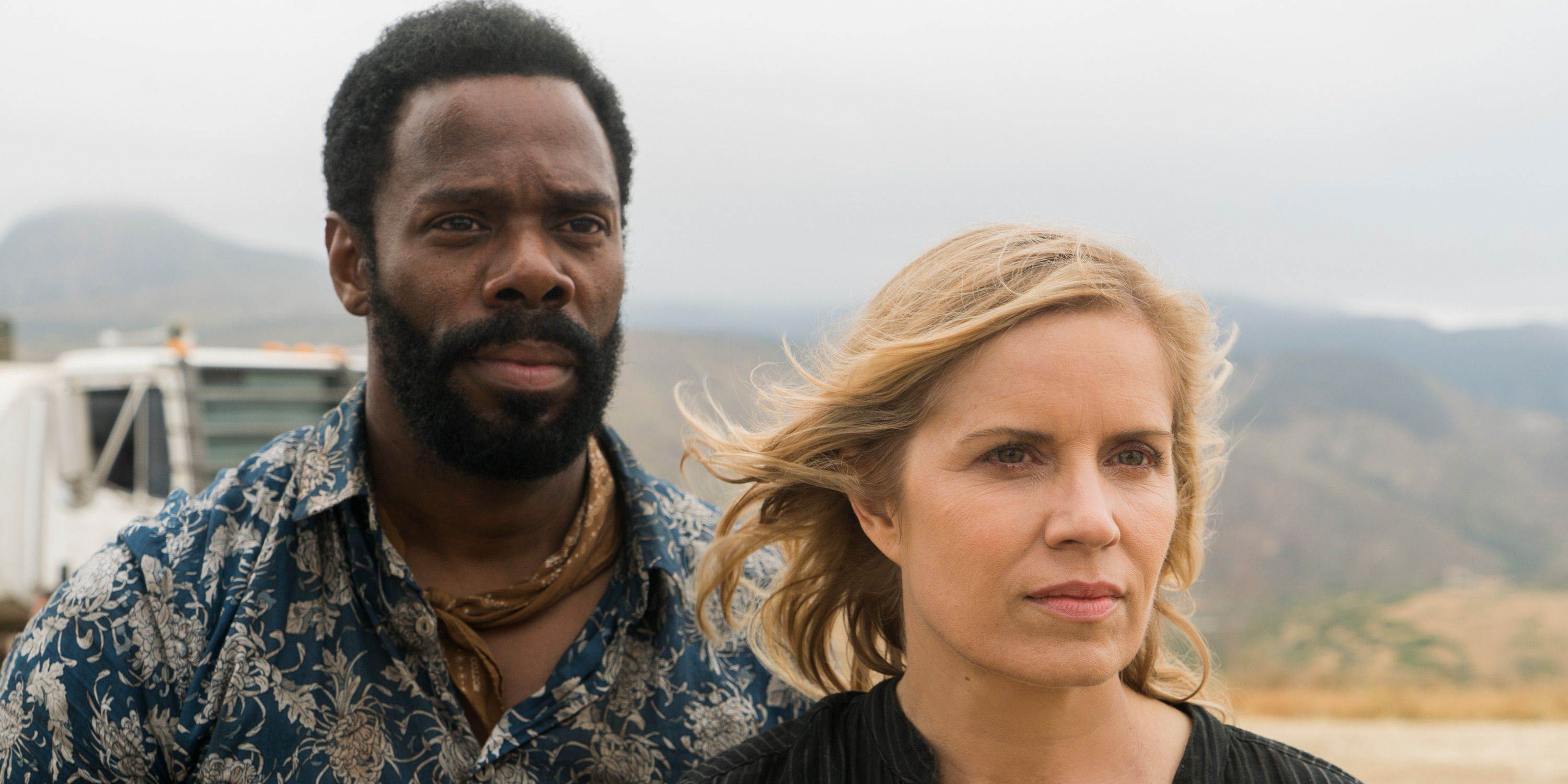 Kim Dickens, Colman Domingo, Fear of the Walking Dead, This Land is My land, Season 3, Episode 13