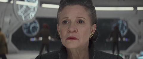 General Leia Organa in Star Wars: The Last Jedi